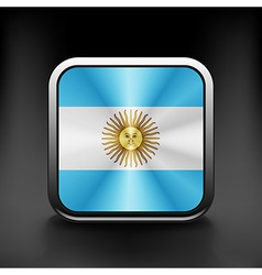 Original and simple argentina flag isolated vector
