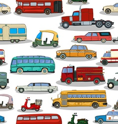 Retro cars pattern vector