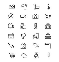 Electronics line icons 5 vector