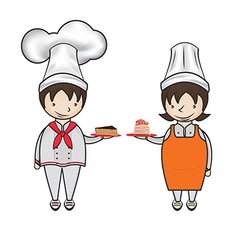 Chef bakery vector