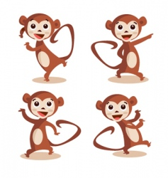 Dancing monkey vector