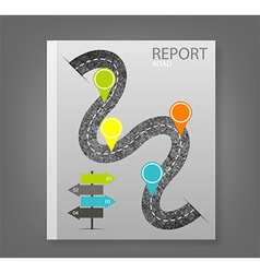 Report road blank vector