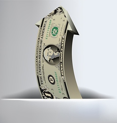 One dollar arrow background vector