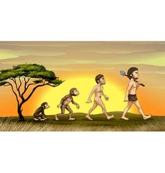 Evolution of man vector