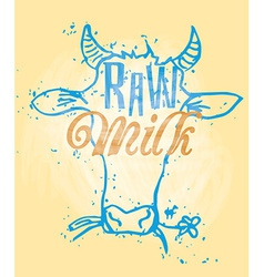 Raw milk vector