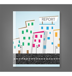 Report urban landscape and road vector