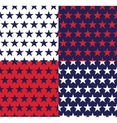 Four seamless pattern with stars vector