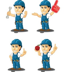 Technician or repairman mascot 10 vector
