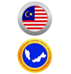 Button as a symbol malaysia vector