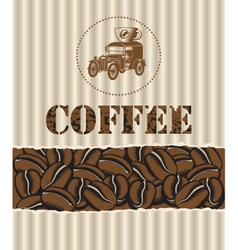 Coffee with retro car vector