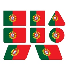 Buttons with flag of portugal vector