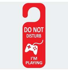 Hotel tag do not disturb with playing icon vector