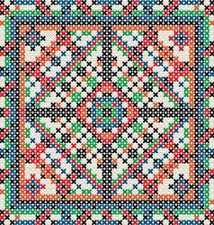Decorative knit tile vector