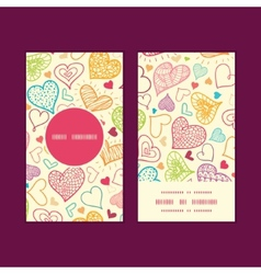 Doodle hearts heart silhouette pattern frame vector