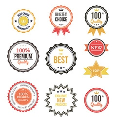Premium quality best choice labels set isolated vector