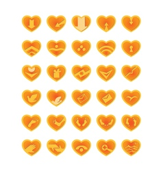 Web and computing icons as hearts vector