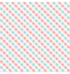Seamless chekered pattern coral and turquoise vector