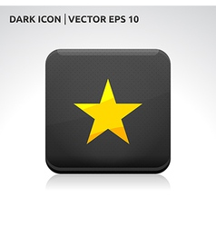Star favorite icon gold vector