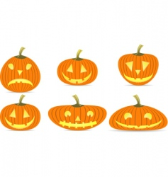 Various of pumpkin vector
