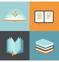 Book signs and symbols - education concepts vector