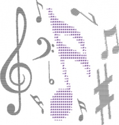 Text music note vector