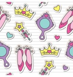 Princess pattern vector