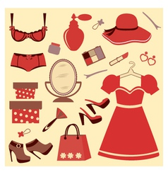 Women accessories vector