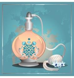 Perfume pump bottle vector