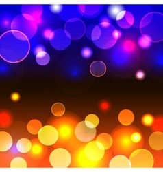 Abstract background with shiny blue and yellow vector