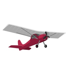 Red airplane isolated on white background vector