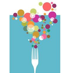 Cutlery restaurant menu design vector