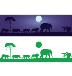 Wild animals wall decal vector