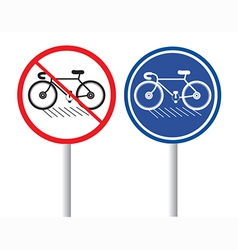 Bicycles signs vector