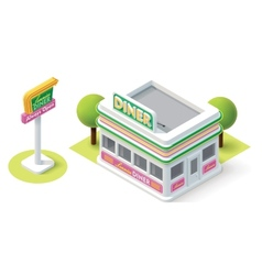 Isometric diner vector