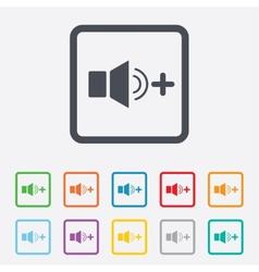 Speaker volume louder sign icon sound symbol vector