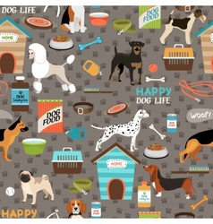 Dogs seamless background pattern vector