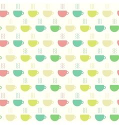 Tea time cups seamless pattern vector