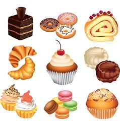 Cakes set vector
