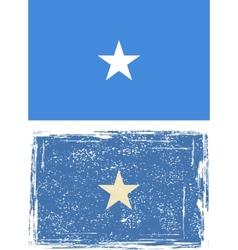 Somali grunge flag vector