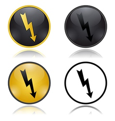 High voltage warning signs vector