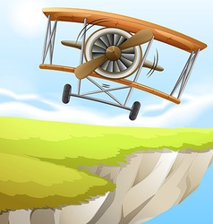 A plane near the cliff vector