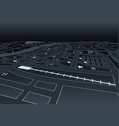 Night street map vector