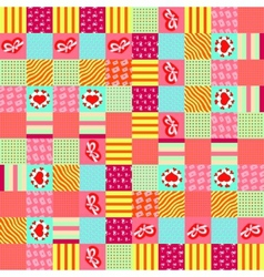 Valentines day square pattern vector