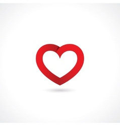 Paper red heart vector