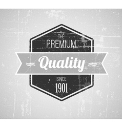 Retro vintage grunge label vector