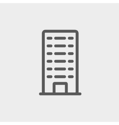 Office building thin line icon vector
