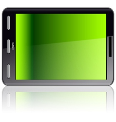 Vertical tablet computer vector