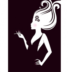Elegance women vector