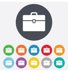 Case sign icon briefcase button vector