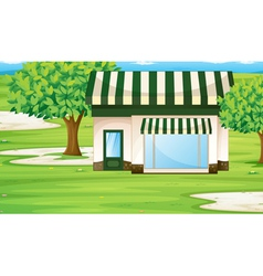 Park builing vector